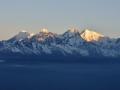 Sunrise in the Himalaya.