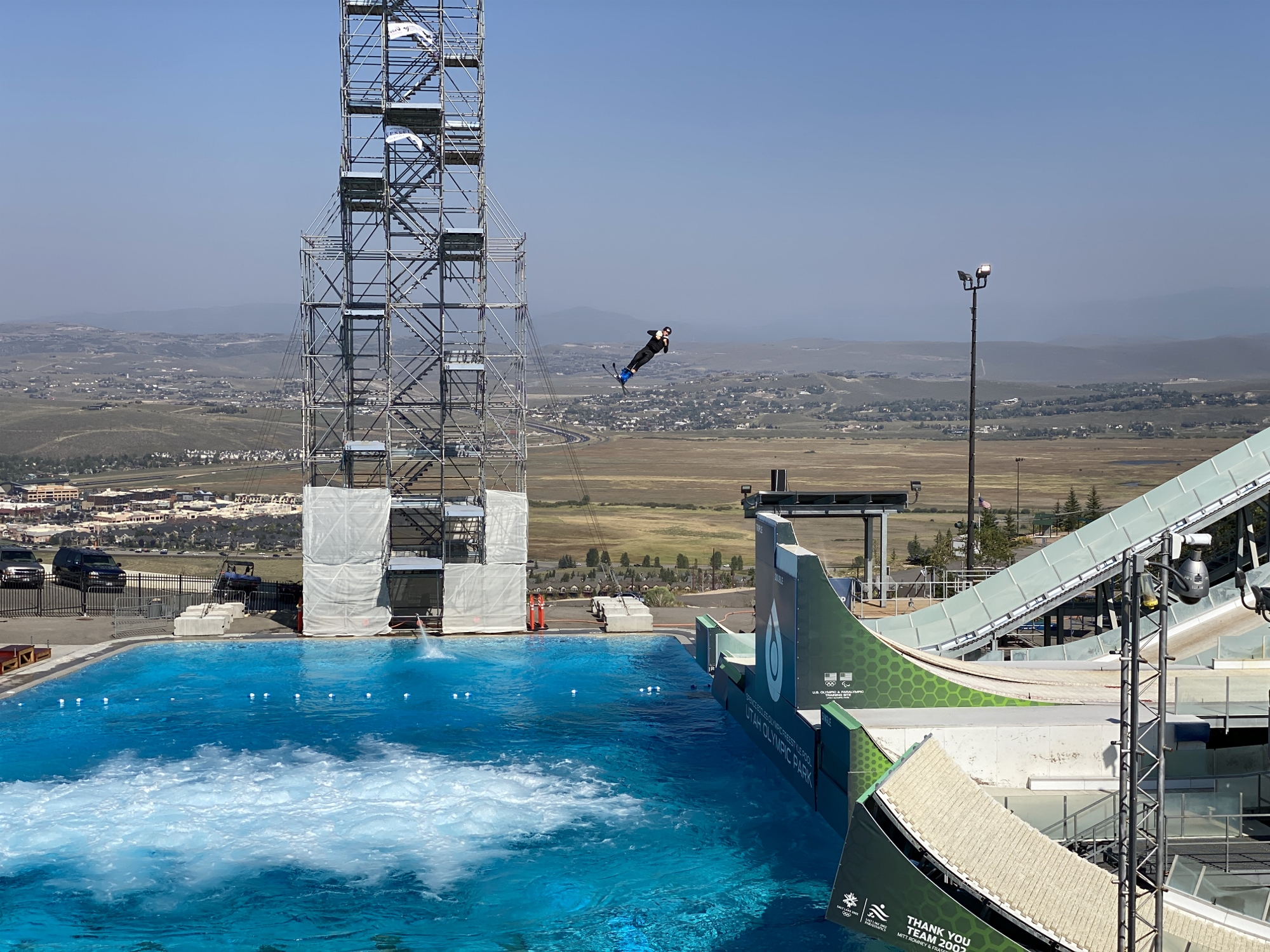 Olympic Ski Jump Practice in Park City, UT