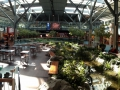 The Vancouver International Airport has a running creek, green space along with a huge acquarium!