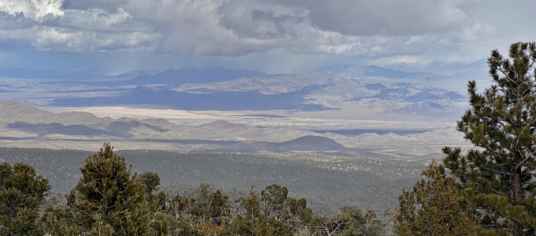Desert valley from Mt Charleston