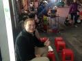 My favorite bahn mi food stand in Hanoi!
