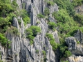 The rock formations in Ha Long Bay area.