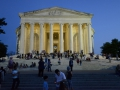 Jefferson Monument in the evening.