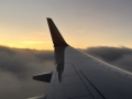 Flying into DC at Sunset