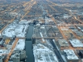 The view of the Southside of Chicago from the Willis (Sears) Tower around sunset.
