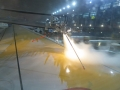 De-icing at O'Hare. I've never seen a robot de-icer so that was pretty cool.