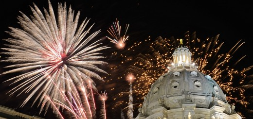 Fireworks at Minnesota Capitol Building