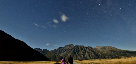 Going-for-a-stroll-around-midnight-near-Mt.-Cook-Village