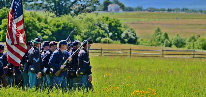 Re-enactment-of-how-the-soldiers-fought.-Gettysburg-PA