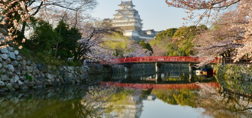 Himeji-Castle-near-Sunset